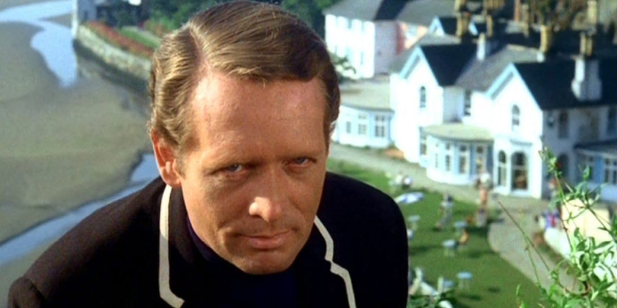 "Patrick McGoohan in ""The Prisoner"""